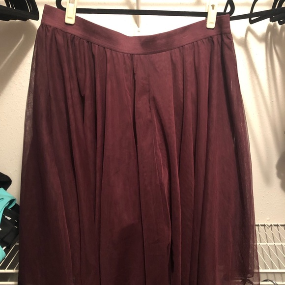 torrid Dresses & Skirts - Burgundy tulle skirt